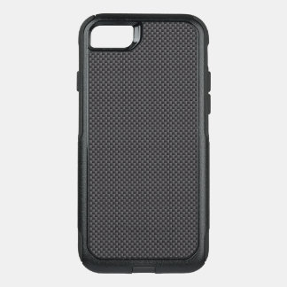 Black and Grey Carbon Fiber Polymer OtterBox Commuter iPhone 8/7 Case