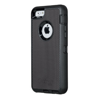 Black and Grey Carbon Fiber Polymer OtterBox iPhone 6/6s Case
