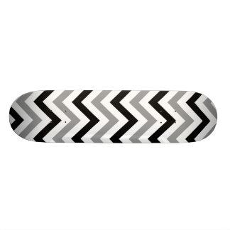 Black And Grey Chevron Skateboard Deck