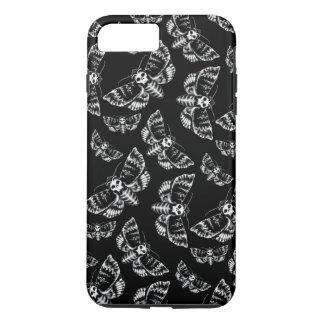 Black and Grey Deaths Head Hawk Moth Gothic Skull iPhone 8 Plus/7 Plus Case