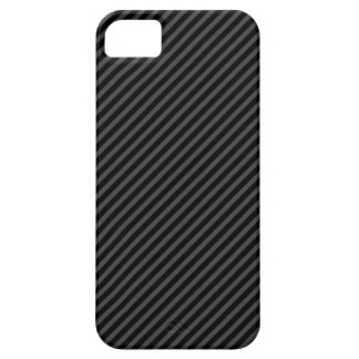 Black and grey diagonal stripes iPhone 5 case