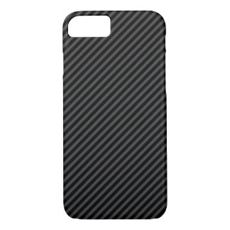 Black and grey diagonal stripes iPhone 7 case