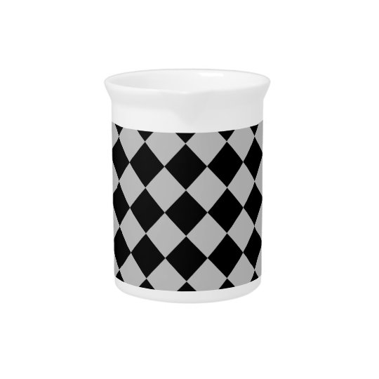 Black And Grey Diamond Pattern Pitcher