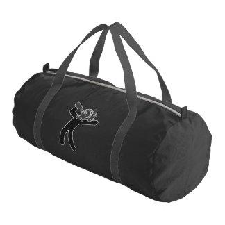 Black and Grey Drunken Knight Duffel Gym Duffel Bag