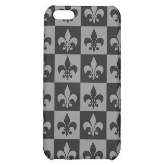 Black and Grey Fleur de lis iPhone 5C Covers