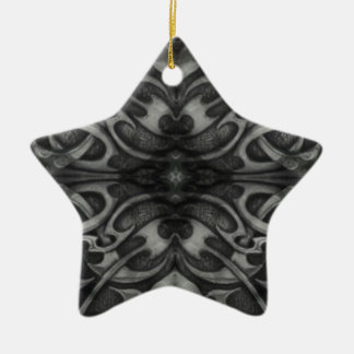 Black and grey heavy metal design ceramic star decoration