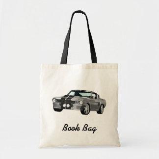 Black and grey hot rod book bag