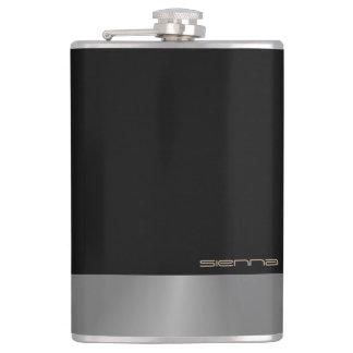 Black and  Grey Metallic  Flask