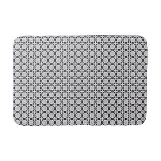 Black and Grey Modern Graphic Tile Pattern Bath Mats