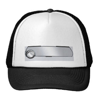 Black and Grey Rearview Mirror on Grey Cap