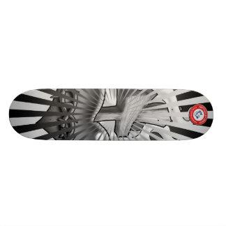 Black and Grey Sacred Heart 20 Cm Skateboard Deck
