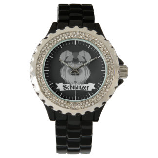 Black and Grey Schnauzer Watch