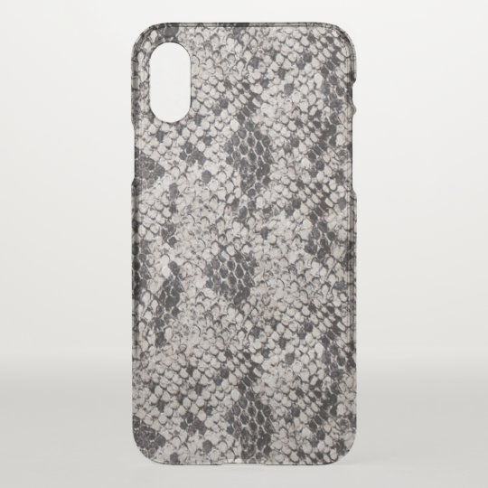 Black and Grey Snake Skin iPhone X Case