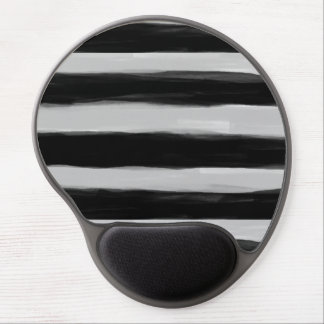 Black and Grey Stripes Gel Mouse Pad