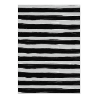 Black and Grey Stripes 3.5x5 Paper Invitation Card
