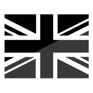 Black and grey Union Jack British(UK) Flag Postcard