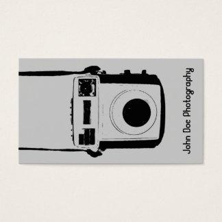 Black and Grey Vintage Camera Business Card