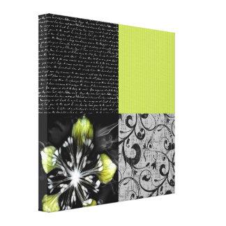 Black And Lime Artwork Canvas Print