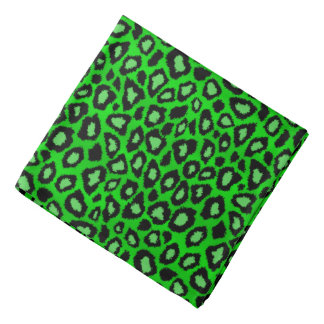 Black and Lime Green Leopard Animal Print Do-rag