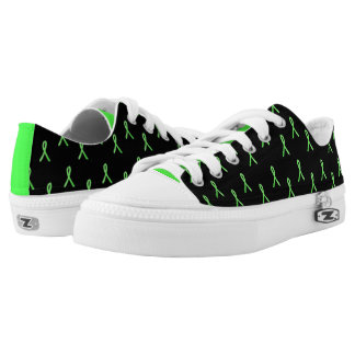 Black and Lime Green Lyme Awareness Shoes
