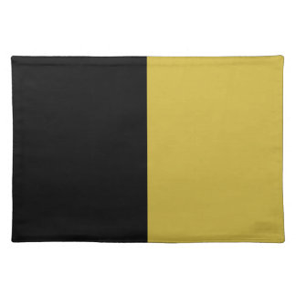 Black and Old Gold Split Color Placemat