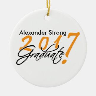 Black and Orange 2017 Graduation Ornament