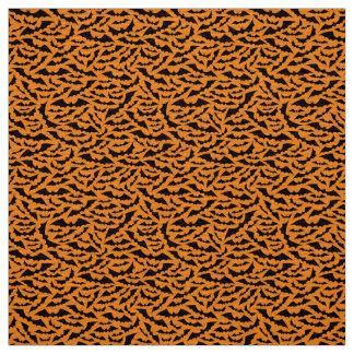 Black and orange bat pattern Halloween craft Fabric