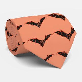 Black and Orange Bat Tie