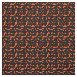 black and orange bats halloween pattern fabric