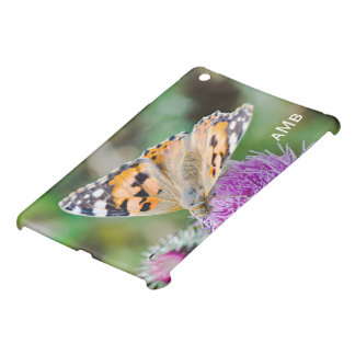Black and Orange Butterfly on Purple Flower iPad Mini Cases