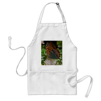 Black and Orange Butterfly with Spots. Apron