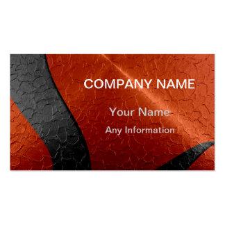 Black and Orange Luxury Metallic Pack Of Standard Business Cards