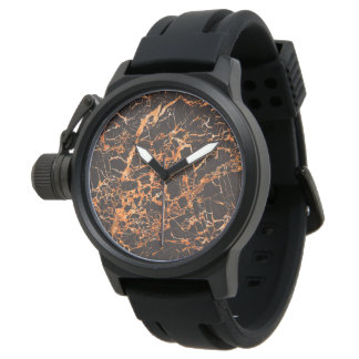 Black and Orange Marble, Watch