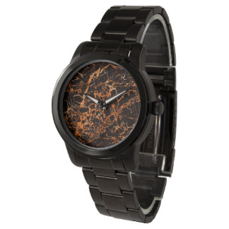 Black and Orange Marble, Wristwatch