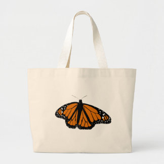 Black and Orange Monarch Butterfly Tote Bags
