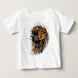 Black and orange neon tiger baby T-Shirt