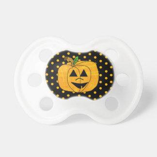 Black and Orange Pumpkin Halloween  Baby Pacifier