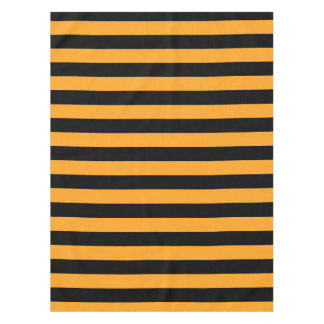Black and orange stripes pattern tablecloth