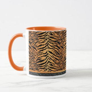 Black and Orange Tiger Print Mug