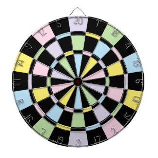 Black And Pastel Colors Dartboard