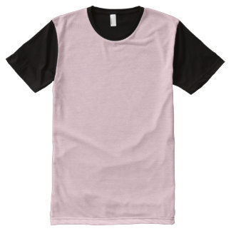 Black and Pastel Pink T-Shirt All-Over Print T-Shirt