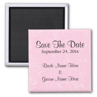 Black and Pastel Pink with Subtle Pattern Wedding Fridge Magnet