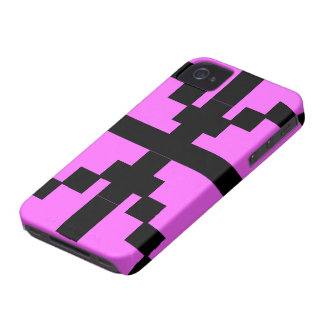 Black and pink  Abstract pattern theme Case-Mate iPhone 4 Cases