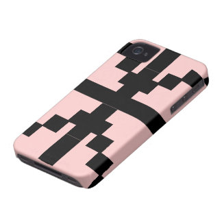 Black and pink Abstract pattern theme iPhone 4 Cases