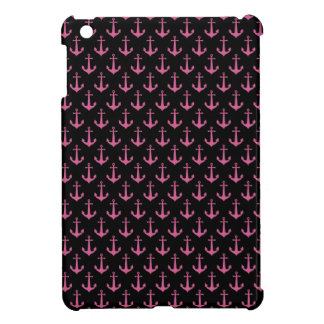 Black And Pink Anchor iPad Mini Case