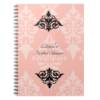 Black and Pink Bridal Shower Notebook