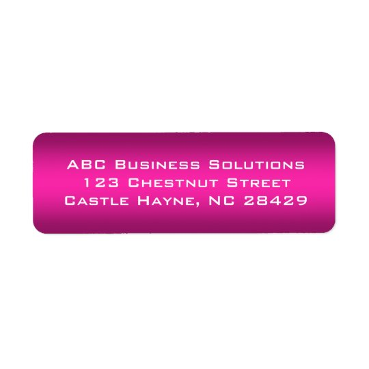 Black and Pink Business Return Address Sticker