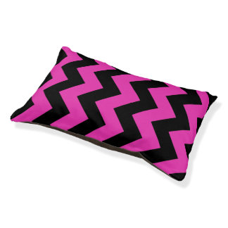 Black And Pink Chevron Pattern Dog Bed