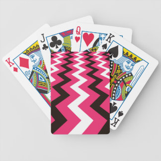 Black and Pink Fast Lane Chevrons Deck Of Cards
