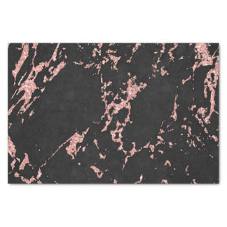 Black And Pink Glitter Marble Stone Tissue Paper